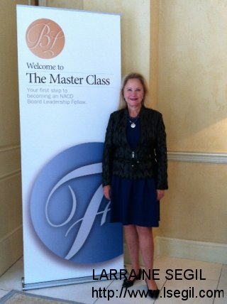 At NACD Master Class in Laguna Beach